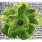 Outdoor Adventures- Green Flower