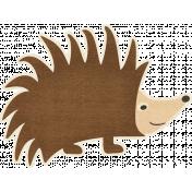 Outdoor Adventures- Hedgehog Sticker