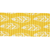 Outdoor Adventures- Ribbon- Yellow With Feathers