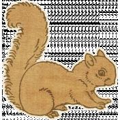 Outdoor Adventures- Squirrel Sticker