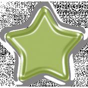 Spookalicious Green Acrylic Star