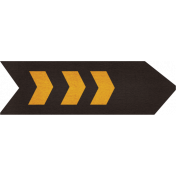 Spookalicious- Chevron Arrow- Black & Orange