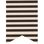 Spookalicious- Blacks & White Striped Tag