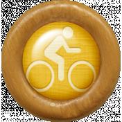 Outdoor Adventures- Wood Flair- Biking Icon
