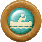 Outdoor Adventures- Wood Flair- Canoeing Icon