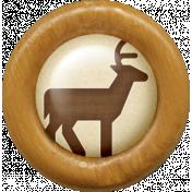Outdoor Adventures- Wood Flair- Deer Icon
