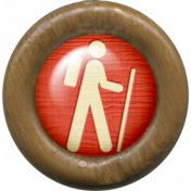 Outdoor Adventures- Wood Flair- Hiking Icon
