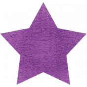 Spookalicious- Purple Star Sticker