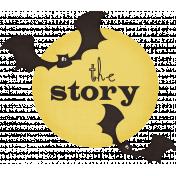 Spookalicious- Wordart- The Story- Blacks & Yellow