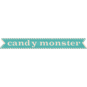Spookalicious- CandyMonster Wordart- Blue
