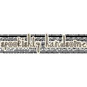 Spookalicious- Wordart- Spookishly Handsome