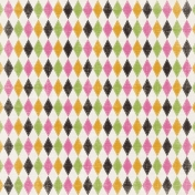 Spookalicious- Colorful Argyle Paper