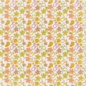 Spookalicious- Colorful Floral Pumpkin Paper