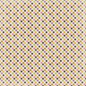 Spookalicious- Colorful Wonky Polka Dots Paper