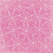 Spookalicious- Pink Spider Web Paper