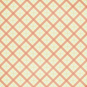 Argyle 14 Paper- Yellow & Coral