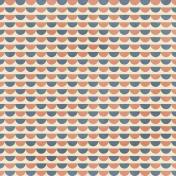 Circles 17 Paper- Coral & Blue