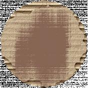 Footsteps Cardboard Circle- Brown
