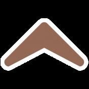 Footsteps Arrow- Brown