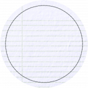 Notebook Paper Circle with Stitching