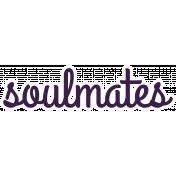 Soulmates Word Art