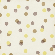 Polka Dots 59 Paper- Yellow & Brown