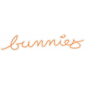Bunnies Word Art
