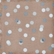 Polka Dots 59 Paper- Brown & Blue