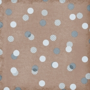 Polka Dots 59 Paper- Brown & Blue