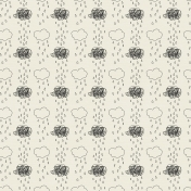 Rain 01 Paper- White & Black