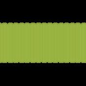 Fat Scalloped Ribbon- Green