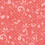 Floral 22 Paper- Coral