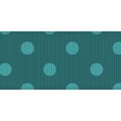 Fat Ribbon- Polka Dots 03- Teal