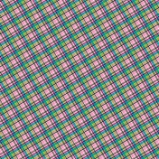 Blue & Pink Plaid Paper
