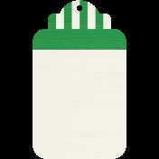 Tag 18- Dark Green & White