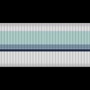 Fat Ribbon- Stripes- Blue & White