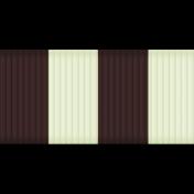 Thin Ribbon- Stripes 01- Brown & Mint