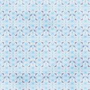 Damask 01 Paper- Blue