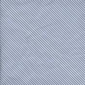 Stripes 67 Paper- White & Blue