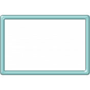 Aqua Plastic Frame- 4x6