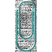 Aqua Paper Clip