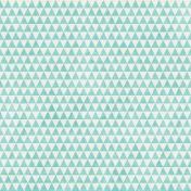 Geometric 23 Paper- Aqua & White