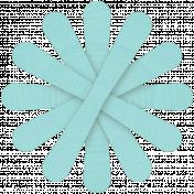 Aqua Paper Flower