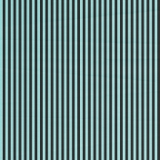 Stripes 54 Paper- Aqua & Black
