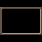Brown Plastic Frame- 4x6