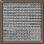 Brown Plastic Frame- 5x5
