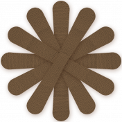 Brown Paper Flower 02