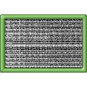 Light Green Plastic Frame 4x6