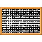 Orange Plastic Frame 4x6