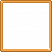 Orange Plastic Frame 5x5